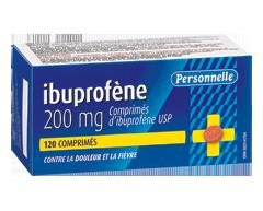Image du produit Personnelle - Comprimés d'ibuprofène 200 mg, 120 unités