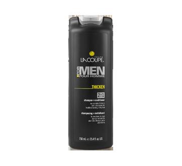Pour homme - Shampooing et revitalisant 2 en 1 Thicken, 750 ml