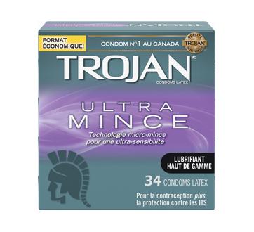 Image 1 du produit Trojan - Ultra Mince condoms, 34 unités