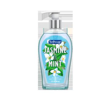 Décor pompe de savon liquide pour les mains, 384 ml, jasmin & menthe