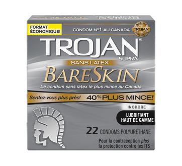 Image 1 du produit Trojan - BareSkin sans latex condoms, 22 unités