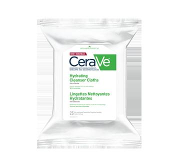 Image du produit CeraVe - Lingettes nettoyantes hydratantes, 25 unités