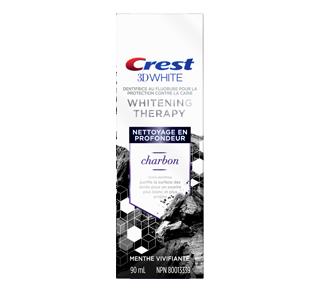 3D White Whitening Therap dentifrice au fluorure avec charbon, 90 ml, menthe vivante