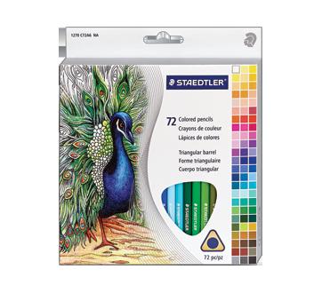 Crayons de couleur, 72 unités