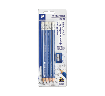 Norica crayon gros format, 5 unités