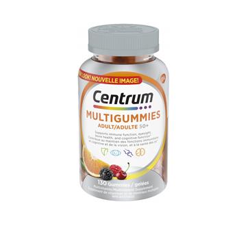 Image du produit Centrum - Centrum MultiGummies pour adulte 50+, 130 unités, cerise, baies et orange