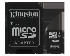 Image du produit Kingston - MicroSD haute capacité (MicroSDHC) SDc4/16Go de 16 Go, 1 unité