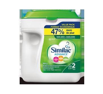 Image du produit Similac - Advance préparation en poudre enrichie d'ADH, de lutéine et de vitamineE naturelle, étape 2, 964 g