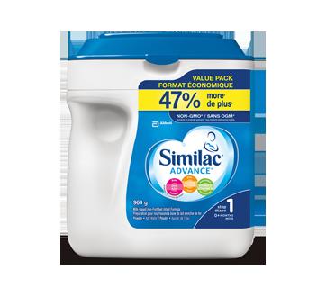 Image du produit Similac - Advance préparation en poudre enrichie d'ADH, de lutéine et de vitamineE naturelle, étape 1, 964 g