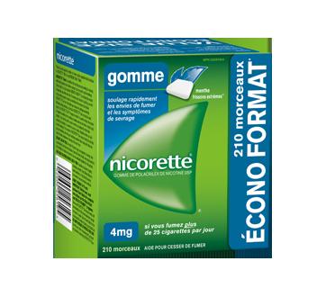 Image du produit Nicorette - Gomme de polacrilex de nicotine 4 mg, 210 unités, menthe frissons extrêmes