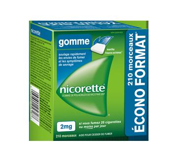 Image du produit Nicorette - Gomme de polacrilex de nicotine 2 mg, 210 unités, menthe frissons extrêmes
