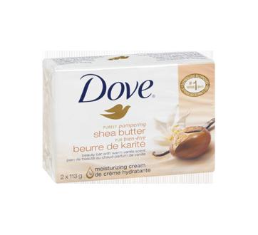 Image 2 du produit Dove - Pur Bien-Être pain de beauté beurre de karité au chaud parfum de vanille, 2 x 113 g