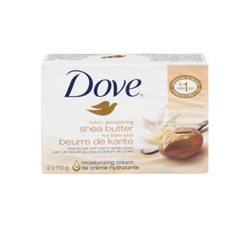 Image 3 du produit Dove - Pur Bien-Être pain de beauté beurre de karité au chaud parfum de vanille, 2 x 113 g