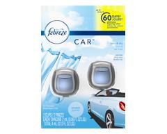 Image du produit Febreze - Pinces pour bouche d'air - Assainisseur d'air, 2x2 ml, ciel et air frais