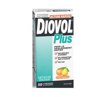Image du produit Diovol - Diovol Plus antiacide et antiflatulent comprimés à croquer, 50 unités, fruit tropicaux