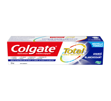 Total avancé blanchissant dentifrice, 120 ml