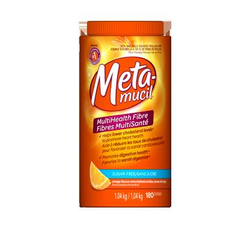 Supplément de fibres de psyllium en poudre texture lisse sans sucre 180  portions, 1,04 kg, orange