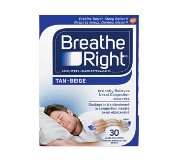 Image du produit Breathe Right - Bandelettes nasales, 30 unités, beige-grande