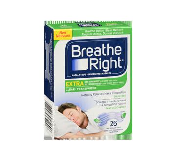 Image 2 du produit Breathe Right - Extra bandelettes nasales, 26 unités, transparent