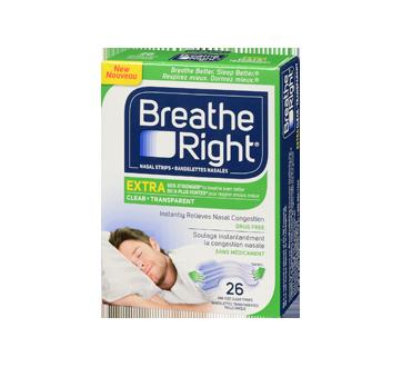 Image 3 du produit Breathe Right - Extra bandelettes nasales, 26 unités, transparent