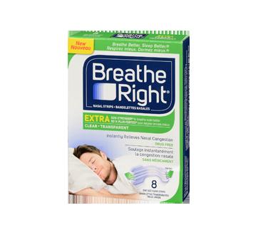 Image 3 du produit Breathe Right - Extra bandelettes nasales, 8 unités, transparent
