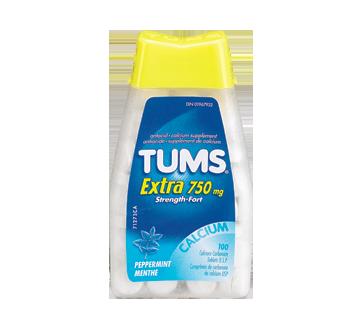 Image du produit Tums - Tums ultra fort 750 mg, 100 unités, menthe