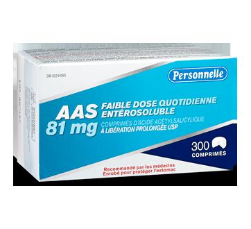 Image du produit Personnelle - Comprimés d'acide acétylsalicylique (AAS) 81 mg, 300 unités
