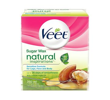 Natural Inspirations cire au sucre, jambes, visage et corps, 250 ml