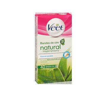 Image 3 du produit Veet - Natural Inspirations bandes de cire pour jambes et corps, 44 unités
