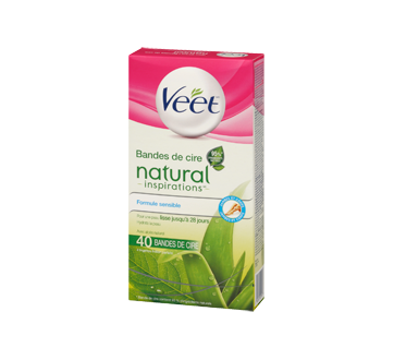 Image 4 du produit Veet - Natural Inspirations bandes de cire pour jambes et corps, 44 unités