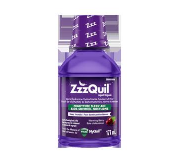 Image du produit Vicks - ZzzQuil aide-sommeil nocturne liquide, 177 ml, baies