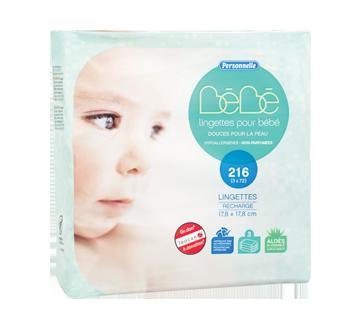 Lingettes pour bébé, 3 x 72 unités