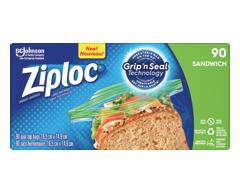 Image du produit Ziploc - Sac à sandwich, 90 sacs