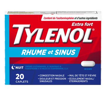 Image 1 du produit Tylenol - Tylenol Rhume et Sinus extra fort formule nuit, 20 unités