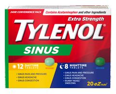 Image du produit Tylenol - Tylenol Rhume et Sinus extra fort formules jour/nuit, 20 unités