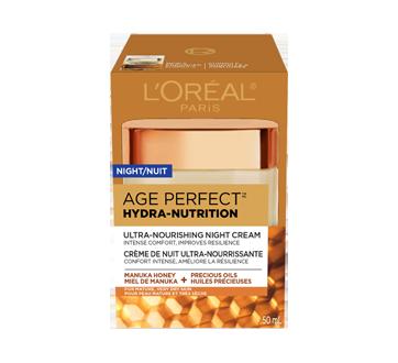 Age Perfect Hydra-Nutrition crème de nuit ultra-nourrissante, pour peau mature et très sèche, anti-âge, 50 ml, miel de manuka + huiles précieuses