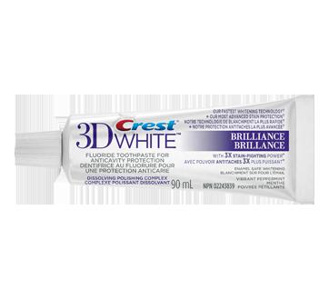 3DWhite Brillance dentifrice blanchissant, 90 ml, menthe poivrée pétillante