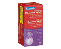 Image du produit Personnelle - Acétaminophène suspension, raisin, 100 ml 160 mg/5 ml