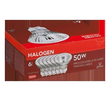 Ampoules halogènes 50 W, 6 unités, claire