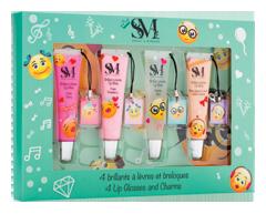 Image du produit S&M - Brillants à lèvres & breloques, 4 x 12 ml