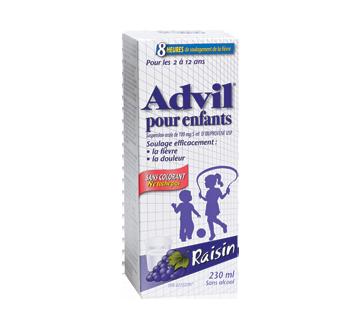 Image du produit Advil - Advil suspension pour enfants sans colorant, 230 ml, raisin