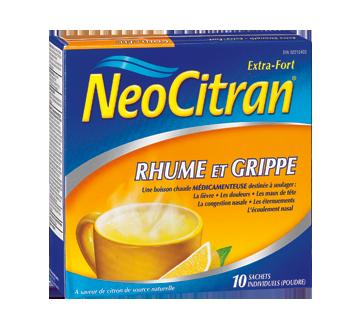 Image du produit Neocitran - Neocitran extra fort rhume et grippe formule nuit, 10 unités, citron