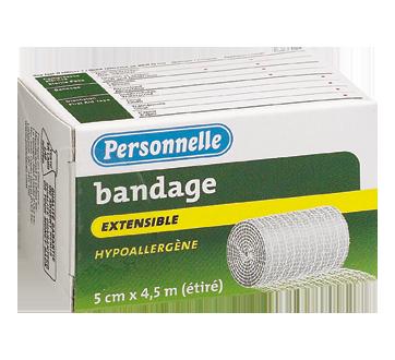 Image du produit Personnelle - Bandage extensible hypoallergène, 5 cm x 4,5 m, grand
