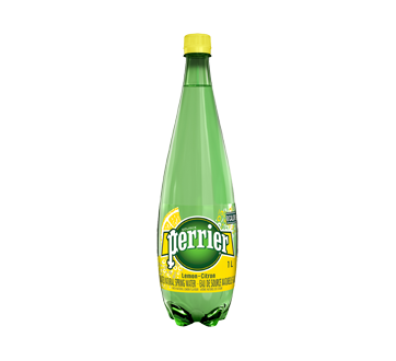 Eau de source naturelle gazéifée, 1 L, citron
