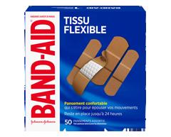 Image du produit Band-Aid - Pansements en tissu flexible paquet familial, 50 unités