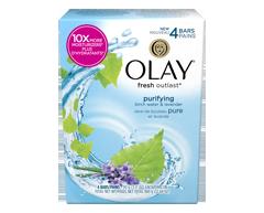 Image du produit Olay - Fresh Outlast pains de savon sève de bouleau pure et lavande, 4 unités