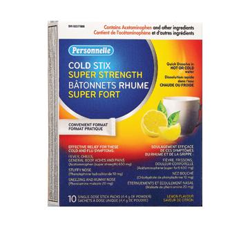 Image du produit Personnelle - Bâtonnets rhume super fort, 10 unités, citron