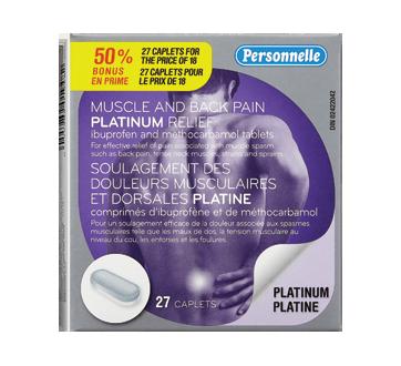 Image du produit Personnelle - Soulagement des douleurs musculaires et dorsales, 18 unités, platine