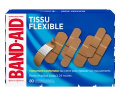 Image du produit Band-Aid - Pansements en tissu flexible paquet économique, 80 unités