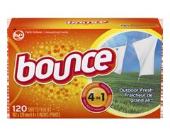 Image du produit Bounce - Feuilles assouplissantes, 120 unités, Fraîcheur de grand air